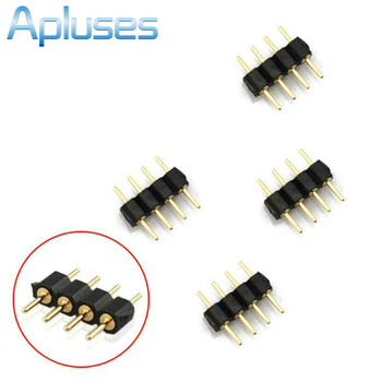 10pcs/Lot 4 Pin Plug Male To Male RGB Connector For 3528 5050 RGB LED Strip light 42832