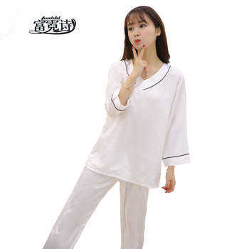 2017 Brand Ladies Satin Pijama Silk Pajamas Sets Pyjamas Women V-Neck Sleepwear Female Lounge Night Suits Home Clothing 58875