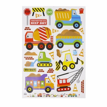 Removable Cute Truck Cars Toy Cartoon Wall Sticker Set Kids Rooms Home Decoration Wall Mural Wallpaper Child Gift Present 15649