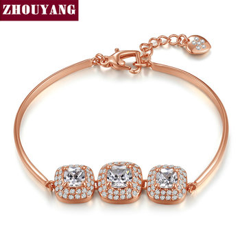 Top Quality Simple Fashion Crystal Rose Gold Color Bracelet Austrian Crystal Wholesale ZYH031 ZYH036 43630